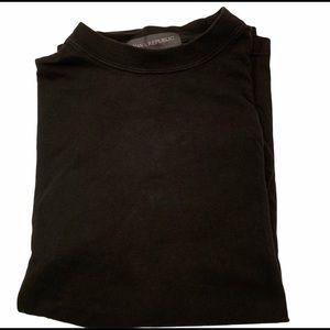 Banana Republic Black Cotton Crewneck T-Shirt S& M